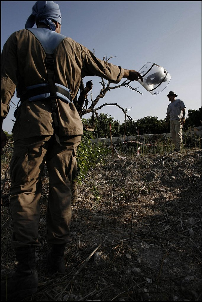 Cluster bombs in Southern Lebanon