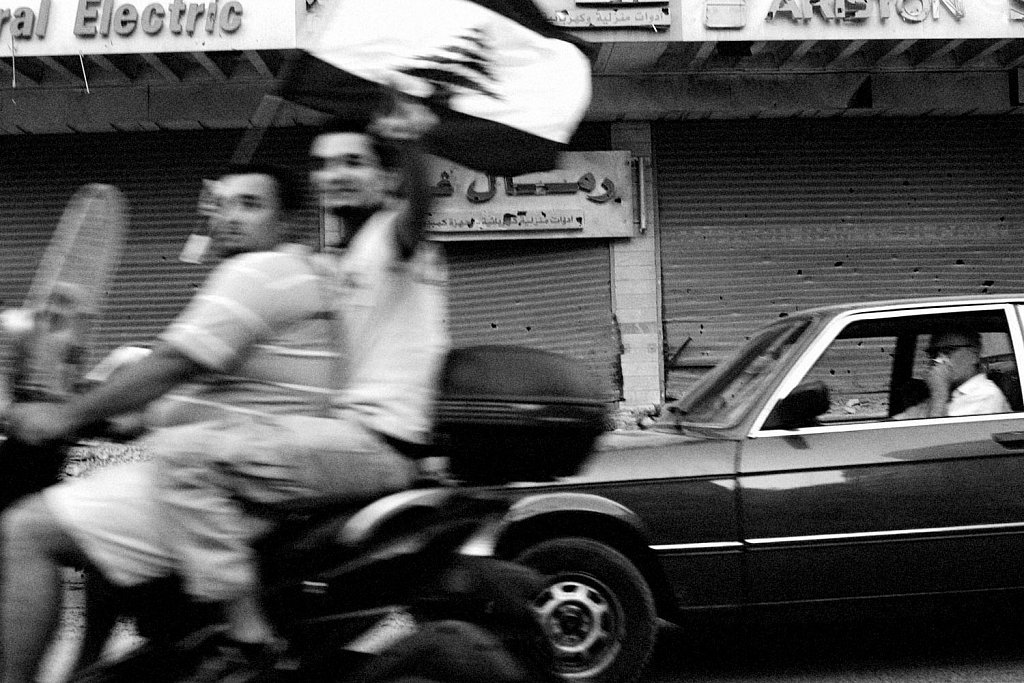 Beirut suburbs. Conflict in Lebanon between Israel and Hezbollah