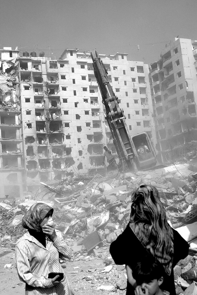 Beirut suburbs. Conflict in Lebanon between Israel and Hezbollah
